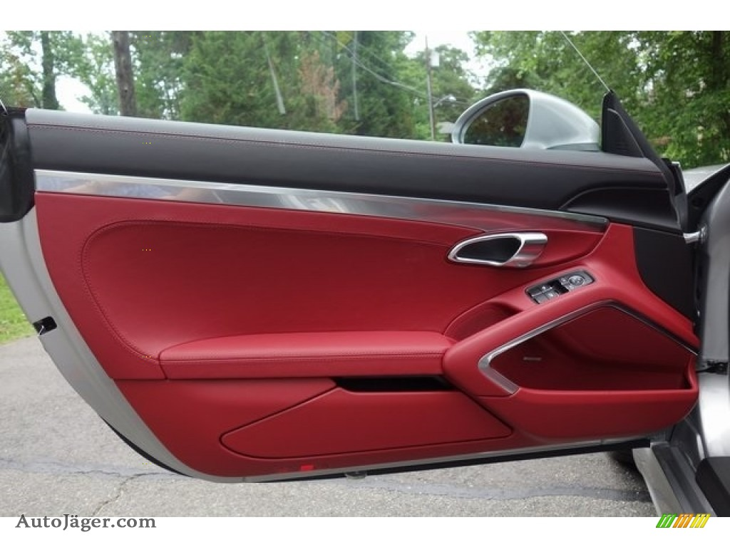 2018 718 Cayman GTS - GT Silver Metallic / Black/Bordeaux Red photo #11