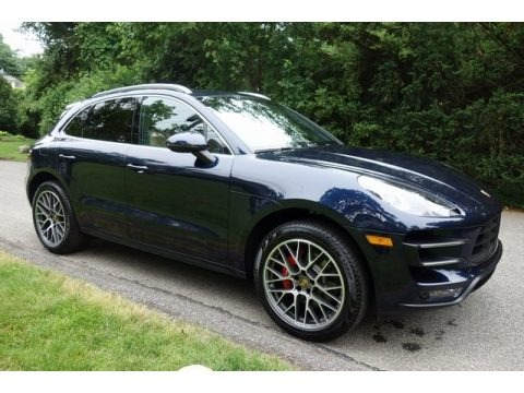 Night Blue Metallic 2018 Porsche Macan Turbo