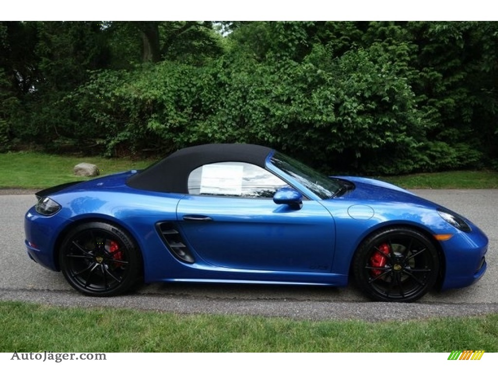 2018 718 Boxster S - Sapphire Blue Metallic / Black photo #3