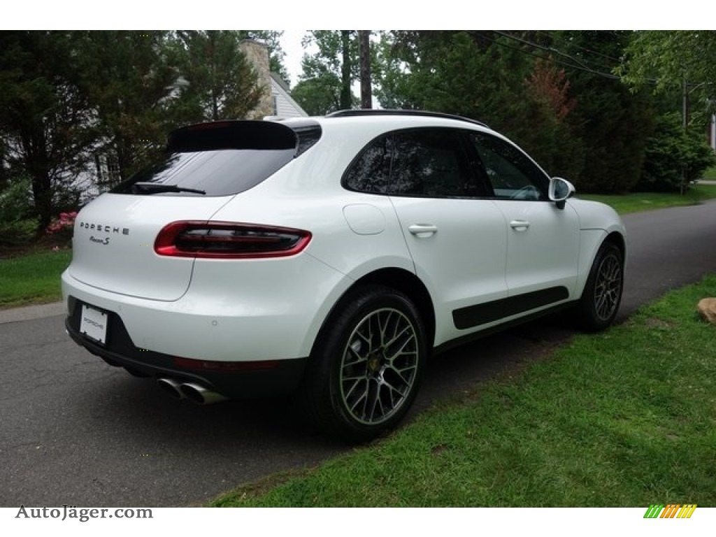 2018 Macan S - White / Black/Garnet Red photo #4
