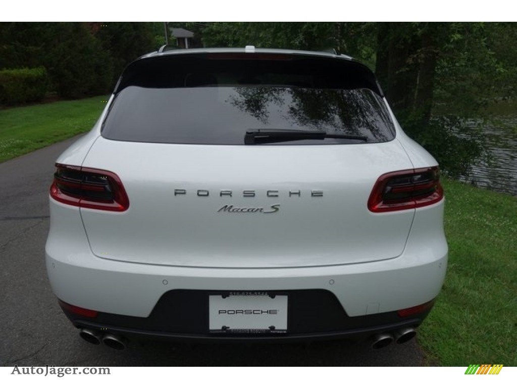 2018 Macan S - White / Black/Garnet Red photo #5