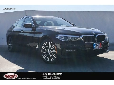 Jet Black 2018 BMW 5 Series 530e iPerfomance Sedan