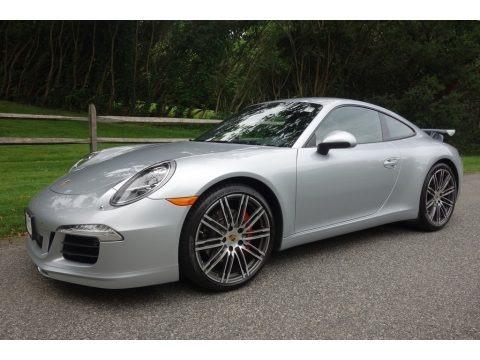 Rhodium Silver Metallic 2015 Porsche 911 Carrera S Coupe