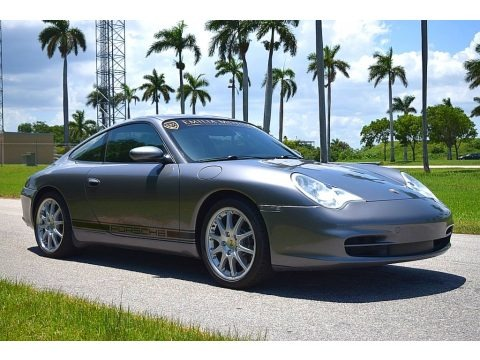 Seal Grey Metallic 2002 Porsche 911 Carrera Coupe