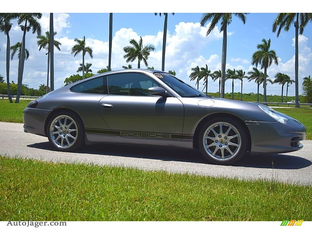 2002 911 Carrera Coupe - Seal Grey Metallic / Graphite Grey photo #3
