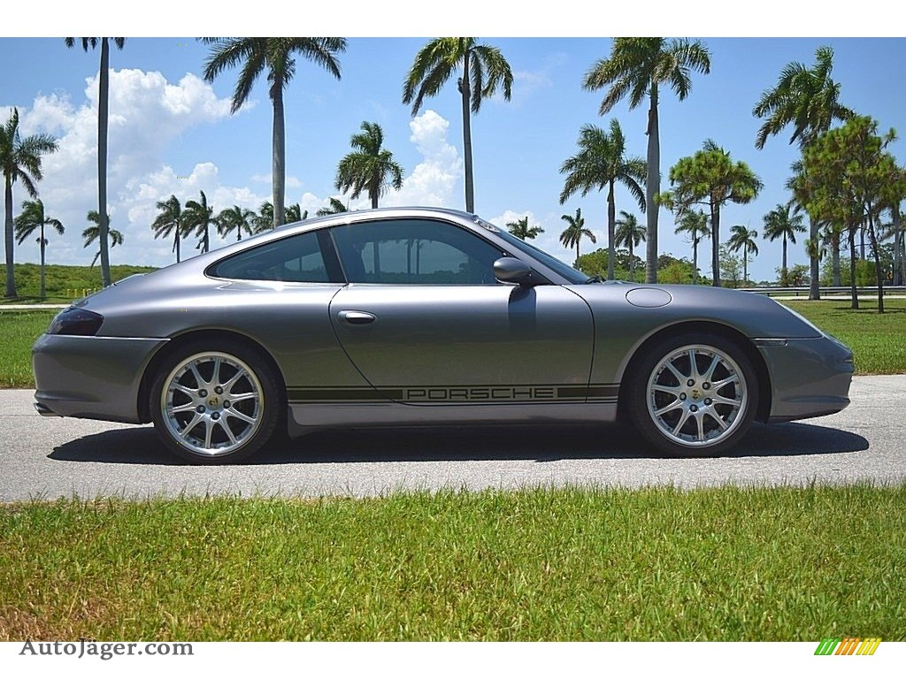 2002 911 Carrera Coupe - Seal Grey Metallic / Graphite Grey photo #4