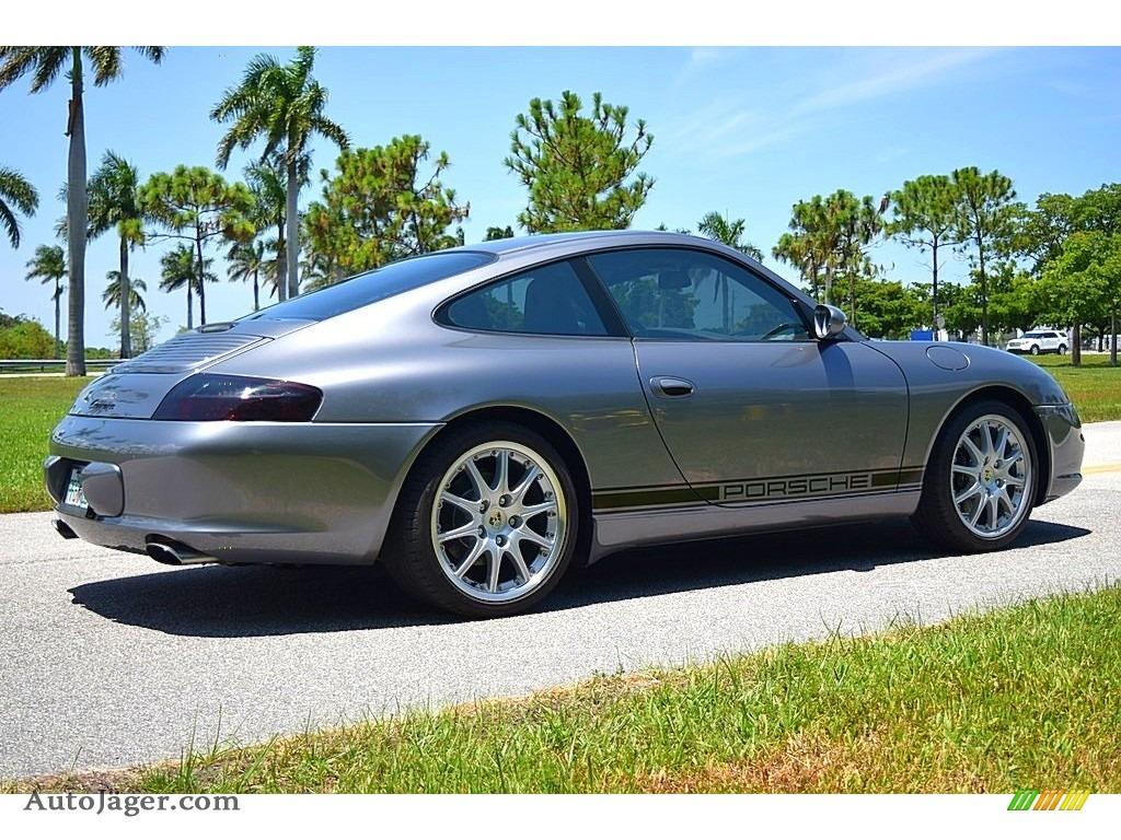 2002 911 Carrera Coupe - Seal Grey Metallic / Graphite Grey photo #5