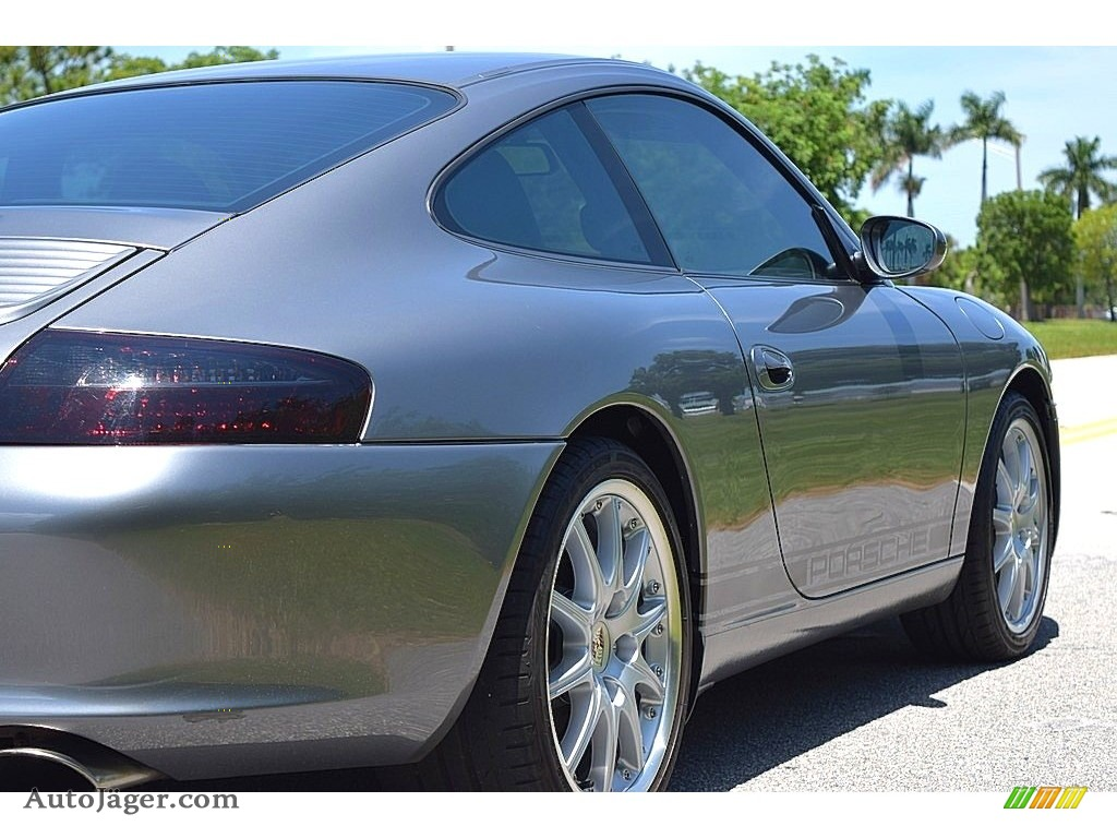 2002 911 Carrera Coupe - Seal Grey Metallic / Graphite Grey photo #6