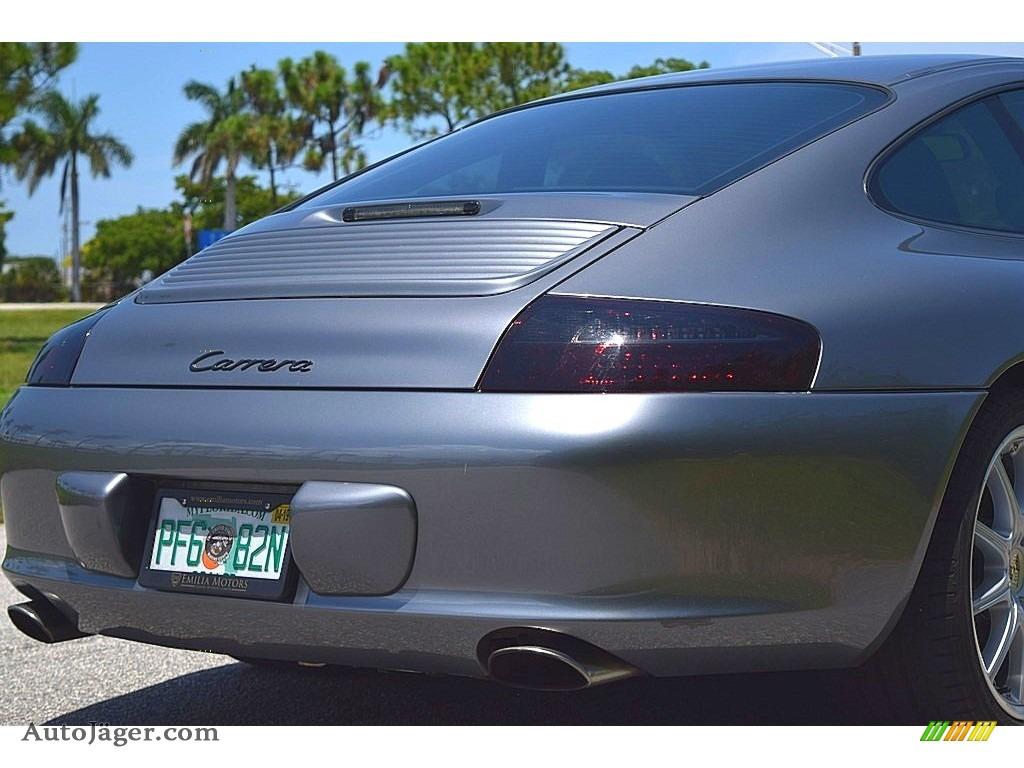 2002 911 Carrera Coupe - Seal Grey Metallic / Graphite Grey photo #7