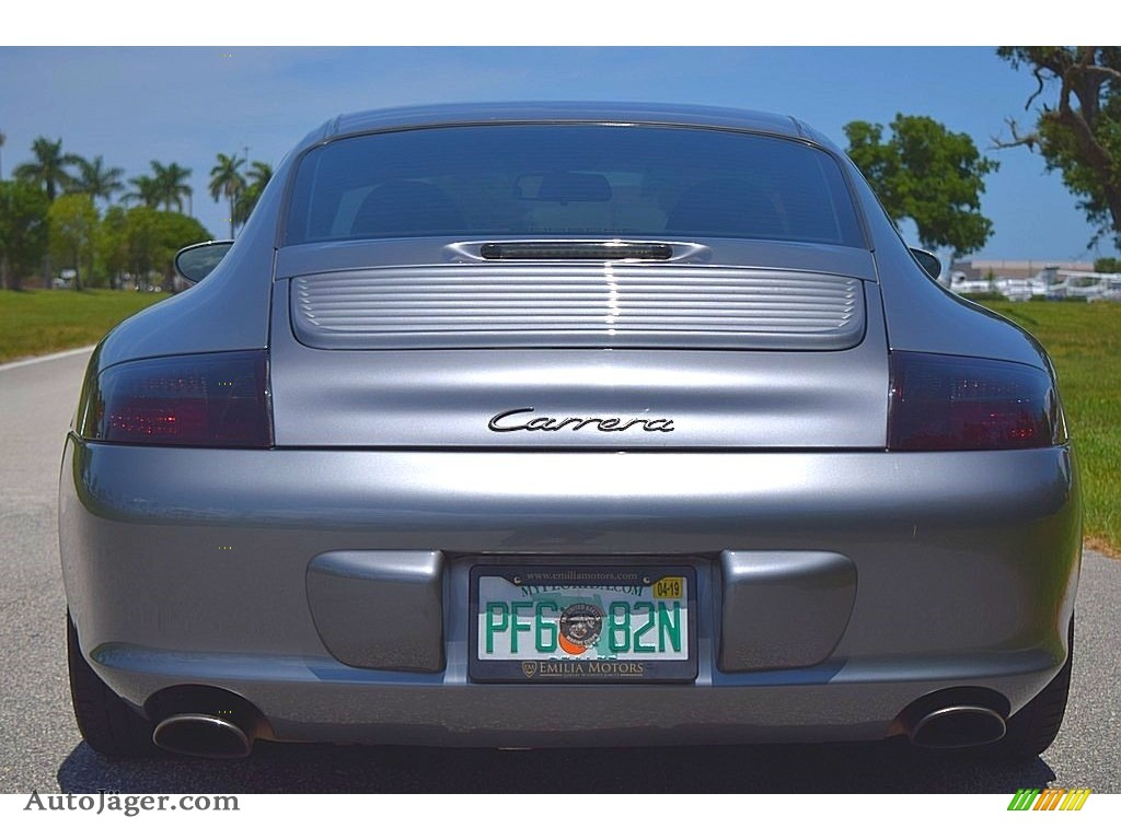 2002 911 Carrera Coupe - Seal Grey Metallic / Graphite Grey photo #8