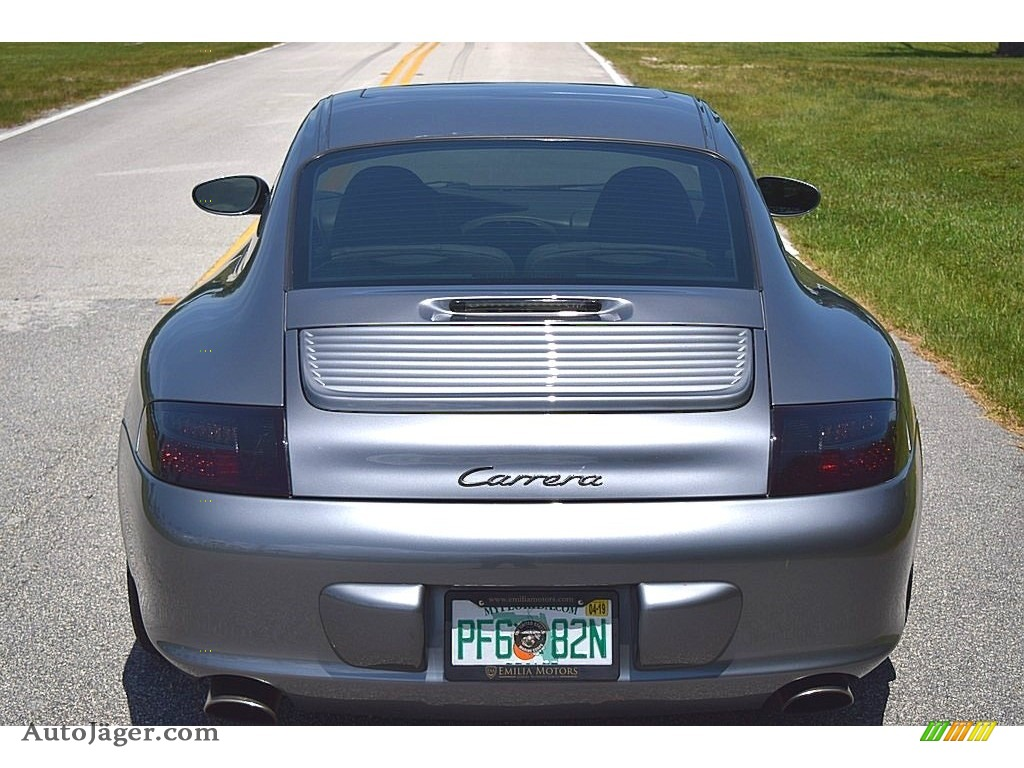 2002 911 Carrera Coupe - Seal Grey Metallic / Graphite Grey photo #9