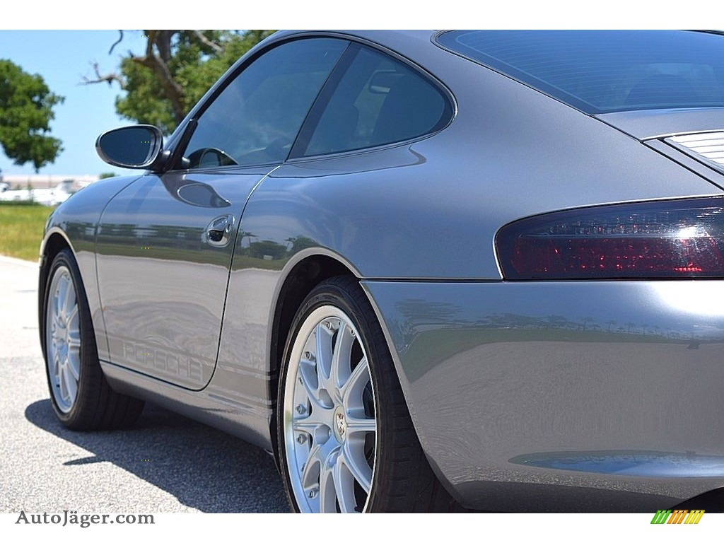 2002 911 Carrera Coupe - Seal Grey Metallic / Graphite Grey photo #10