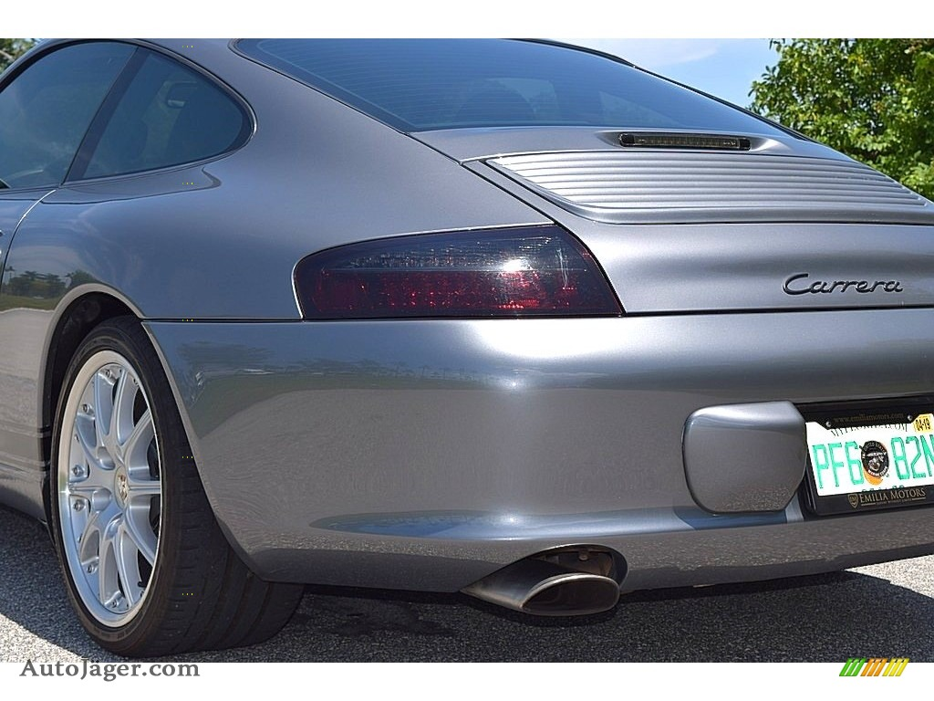 2002 911 Carrera Coupe - Seal Grey Metallic / Graphite Grey photo #11