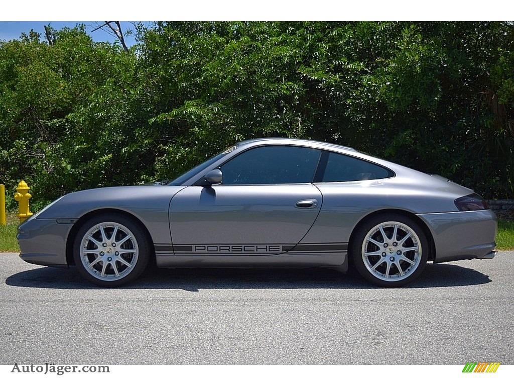2002 911 Carrera Coupe - Seal Grey Metallic / Graphite Grey photo #12