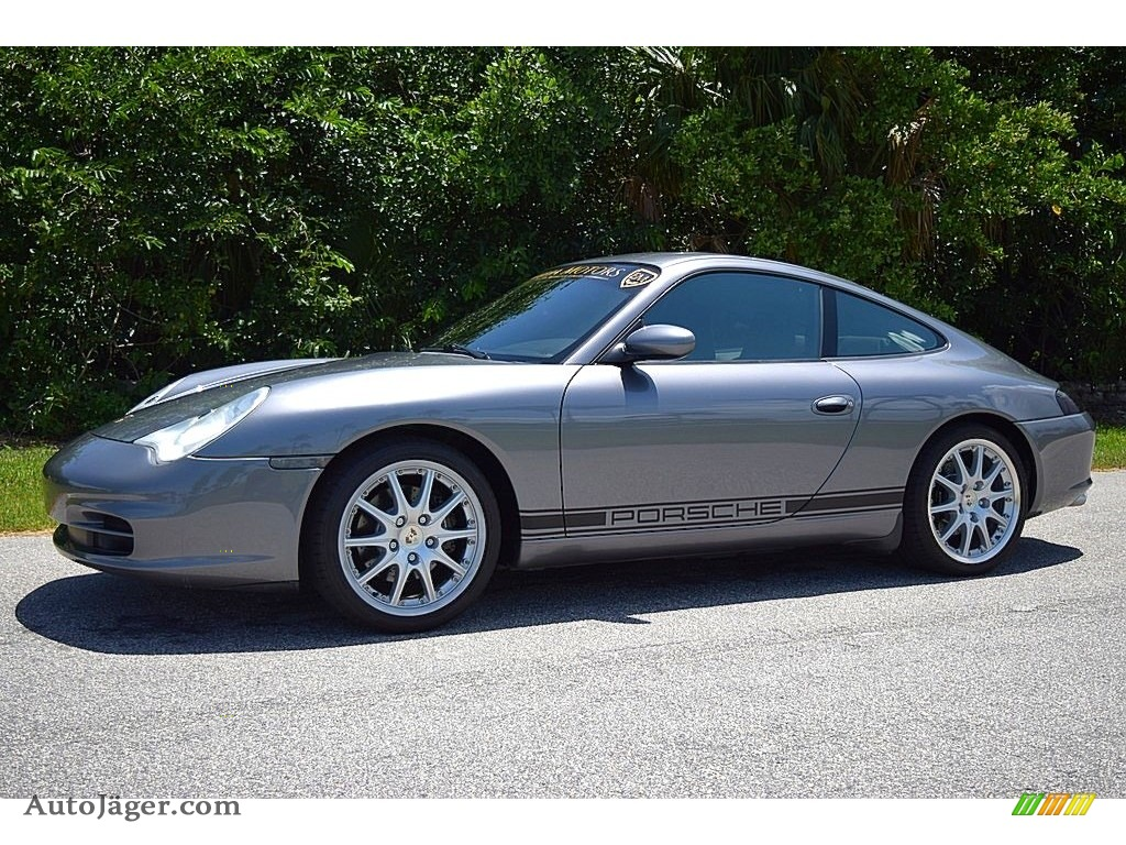 2002 911 Carrera Coupe - Seal Grey Metallic / Graphite Grey photo #13