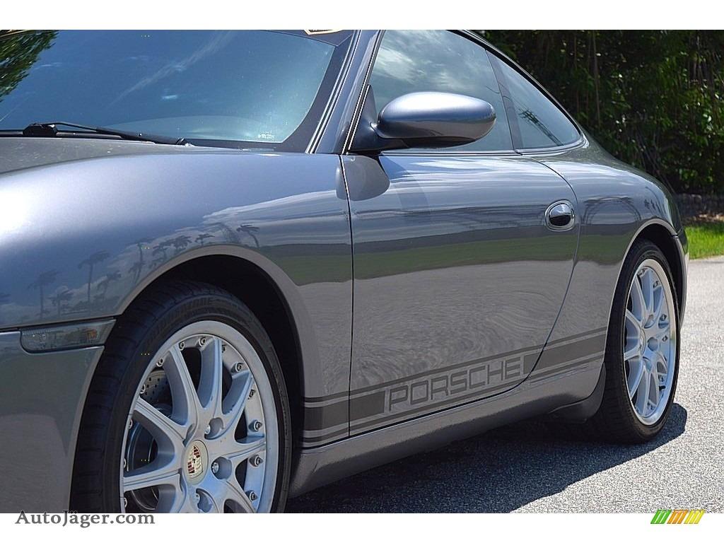 2002 911 Carrera Coupe - Seal Grey Metallic / Graphite Grey photo #14