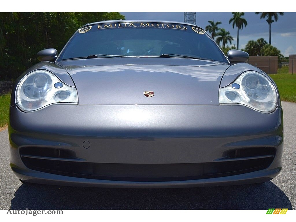 2002 911 Carrera Coupe - Seal Grey Metallic / Graphite Grey photo #16
