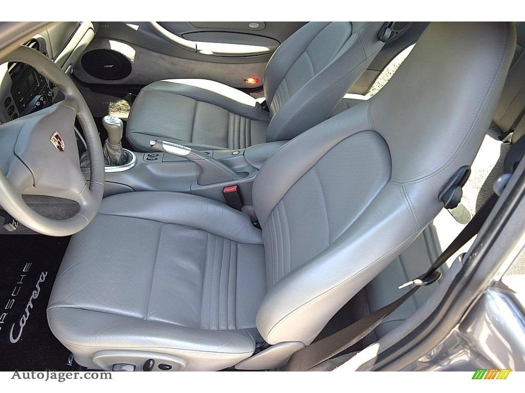 2002 911 Carrera Coupe - Seal Grey Metallic / Graphite Grey photo #32