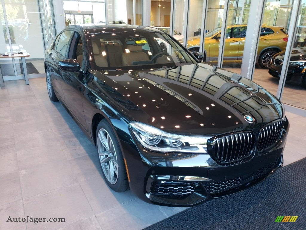 Black Sapphire Metallic / Cognac BMW 7 Series 750i xDrive Sedan