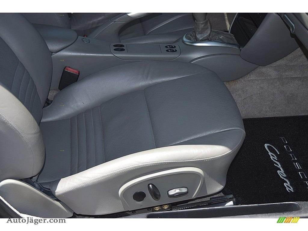 2002 911 Carrera Coupe - Seal Grey Metallic / Graphite Grey photo #40