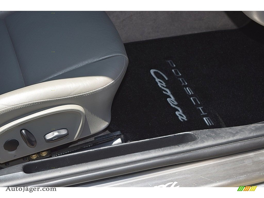 2002 911 Carrera Coupe - Seal Grey Metallic / Graphite Grey photo #41