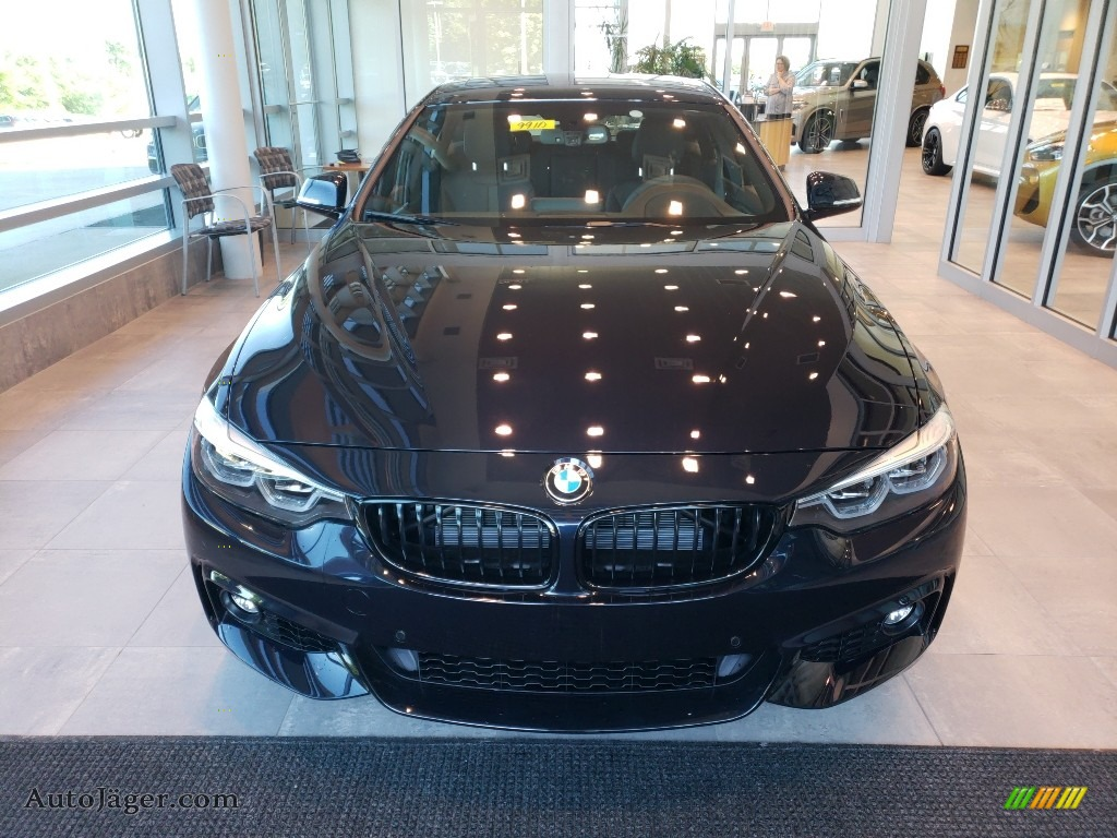 2019 4 Series 440i xDrive Gran Coupe - Carbon Black Metallic / Black photo #4