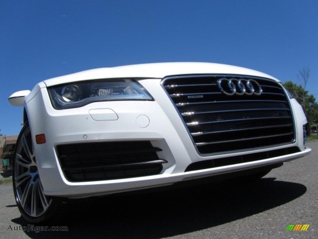 2012 A7 3.0T quattro Premium Plus - Ibis White / Titanium Grey photo #1