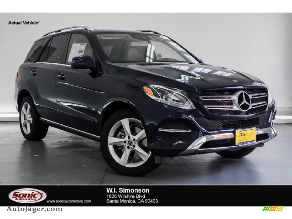 2018 GLE 350 - Lunar Blue Metallic / Ginger Beige/Espresso Brown photo #1