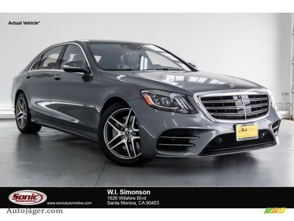 2018 S 450 Sedan - Selenite Grey Metallic / Nut Brown/Black photo #1