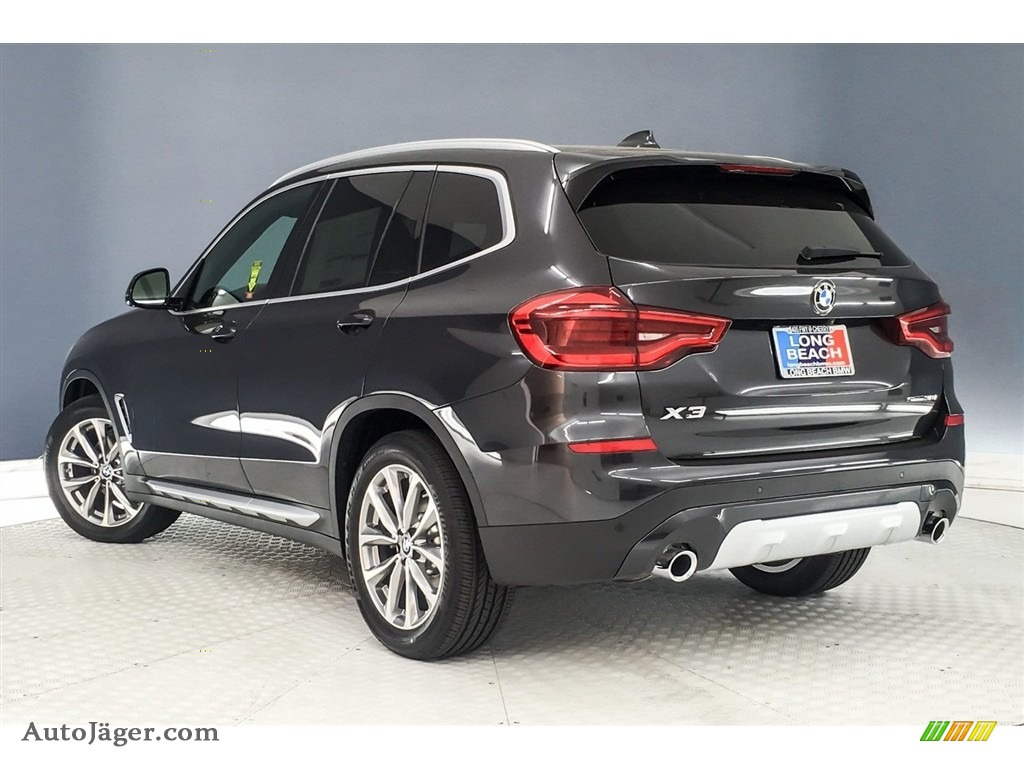 2019 X3 sDrive30i - Dark Graphite Metallic / Black photo #3