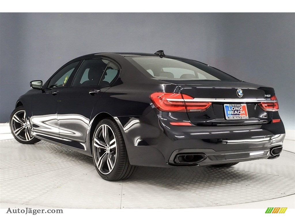 2019 7 Series 740i Sedan - Carbon Black Metallic / Black photo #3