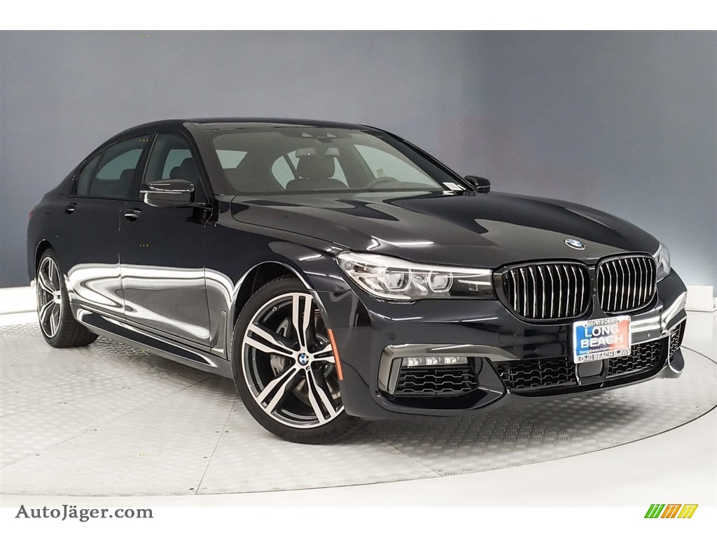 2019 7 Series 740i Sedan - Carbon Black Metallic / Black photo #12