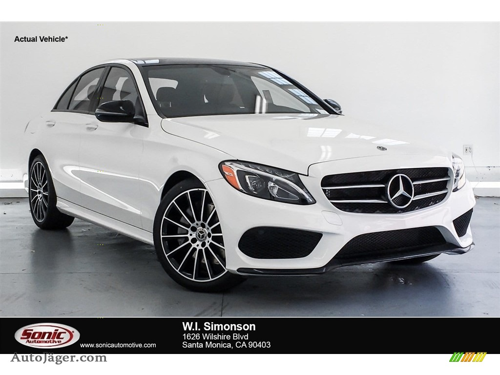 2018 C 300 Sedan - Polar White / Cranberry Red/Black photo #1