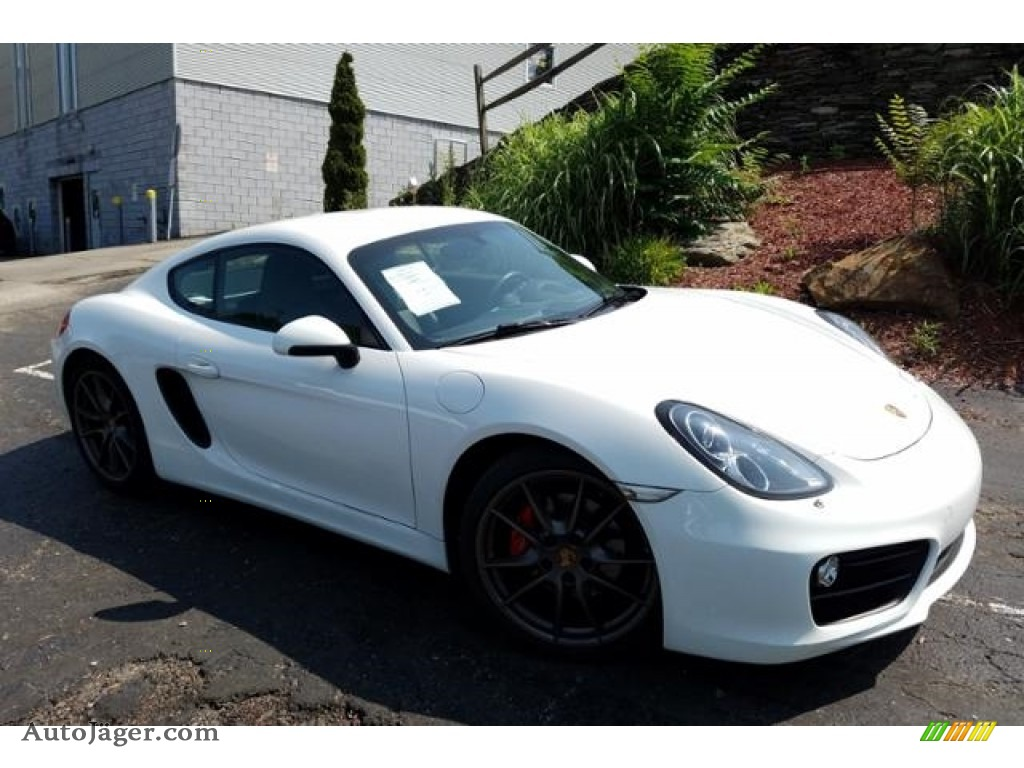 2014 Cayman S - White / Black photo #1