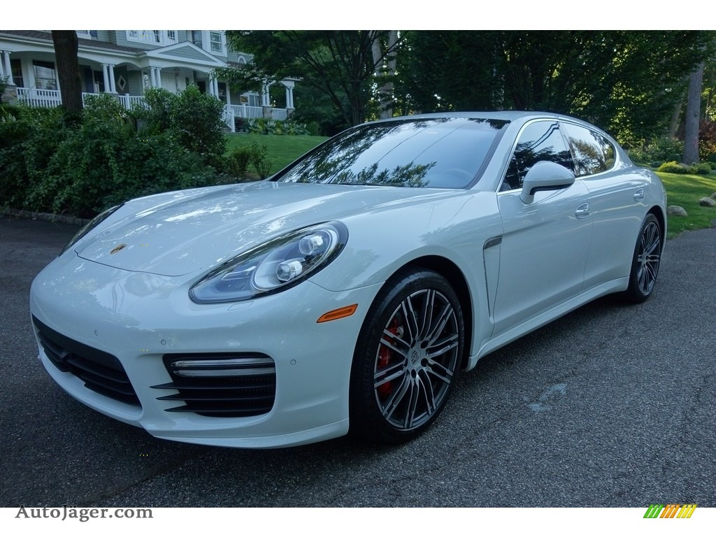 2015 Panamera Turbo - White / Black photo #1