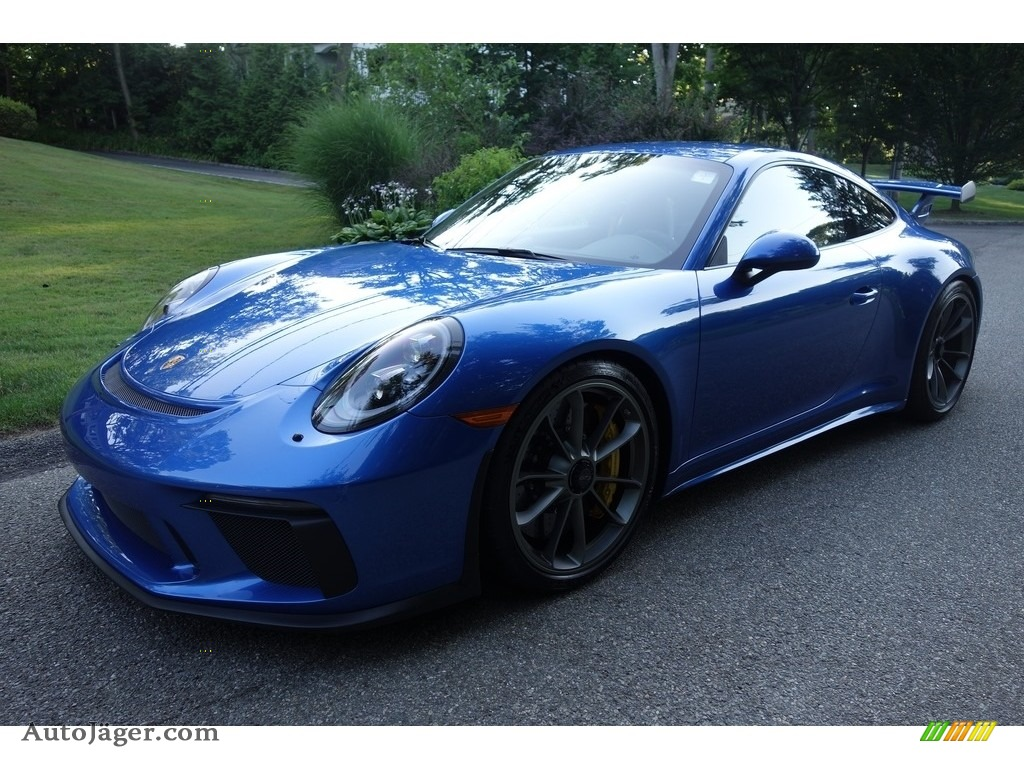 2018 911 GT3 - Sapphire Blue Metallic / Black w/Alcantara photo #1