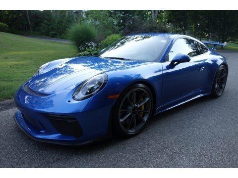 Sapphire Blue Metallic 2018 Porsche 911 GT3
