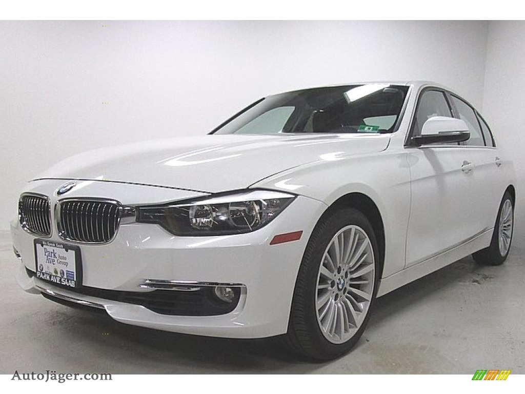 2013 3 Series 328i xDrive Sedan - Alpine White / Saddle Brown photo #1