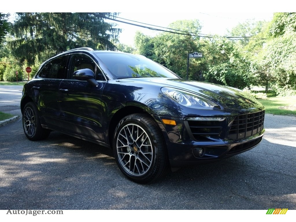 2018 Macan S - Night Blue Metallic / Black/Luxor Beige photo #1