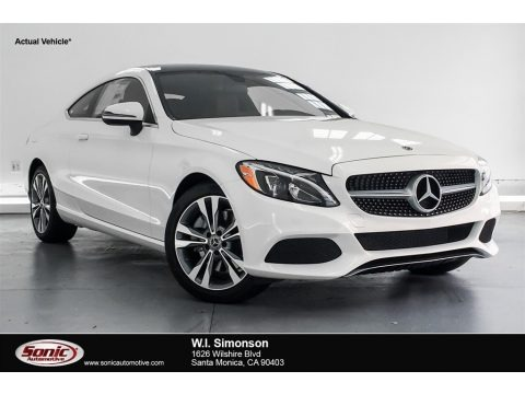 Polar White 2018 Mercedes-Benz C 300 Coupe