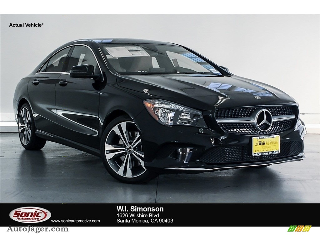 2018 CLA 250 Coupe - Night Black / Sahara Beige photo #1