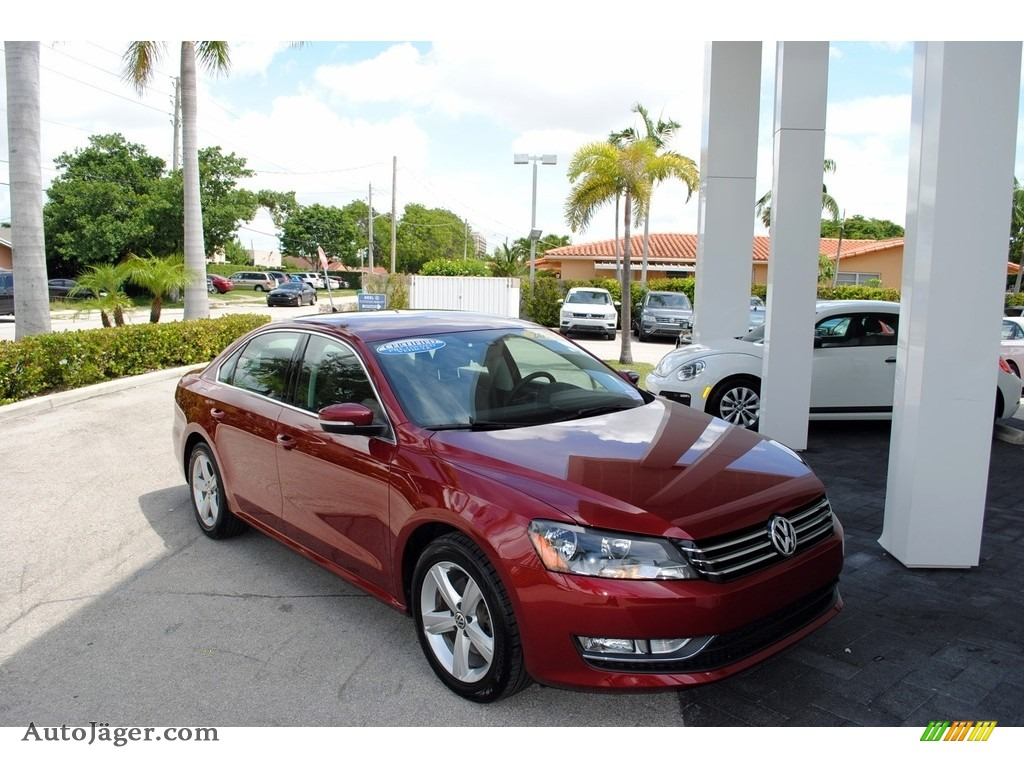 2015 Passat Wolfsburg Edition Sedan - Fortana Red Metallic / Titan Black photo #1