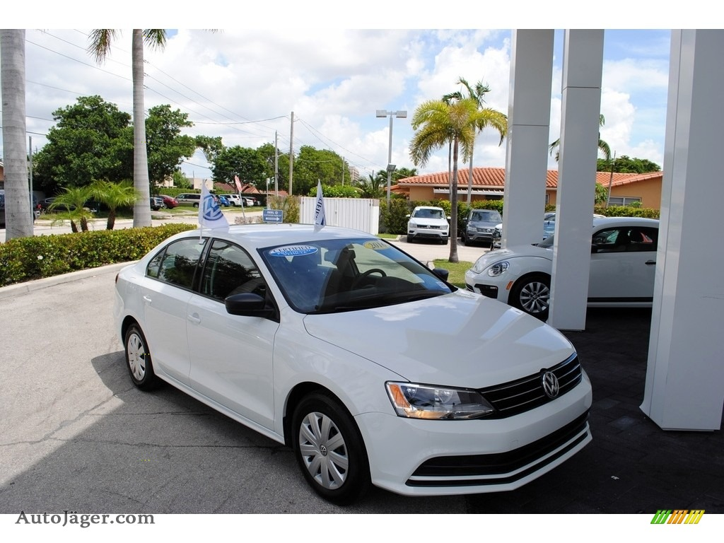 2016 Jetta S - Pure White / Titan Black photo #1