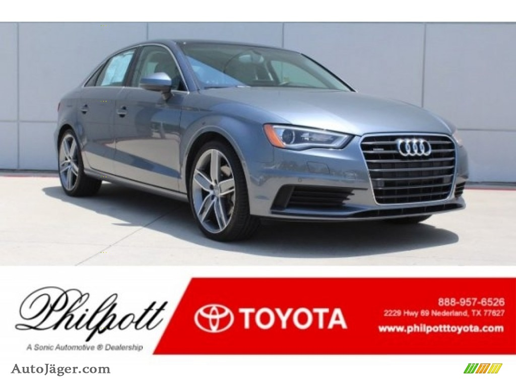 2015 A3 2.0 Premium Plus quattro - Monsoon Gray Metallic / Titanium Gray photo #1