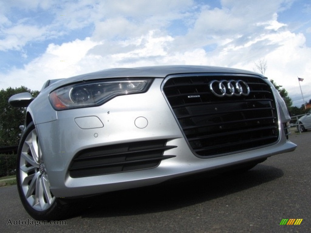 Ice Silver Metallic / Black Audi A6 2.0T quattro Sedan