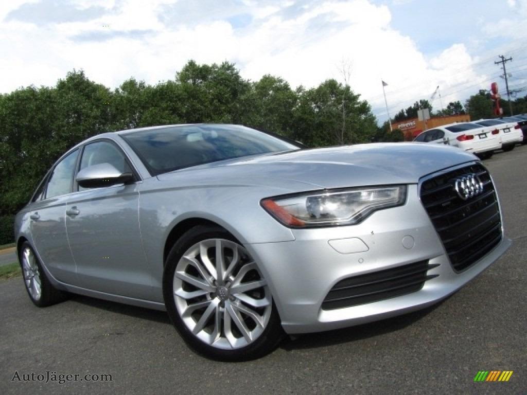 2013 A6 2.0T quattro Sedan - Ice Silver Metallic / Black photo #2