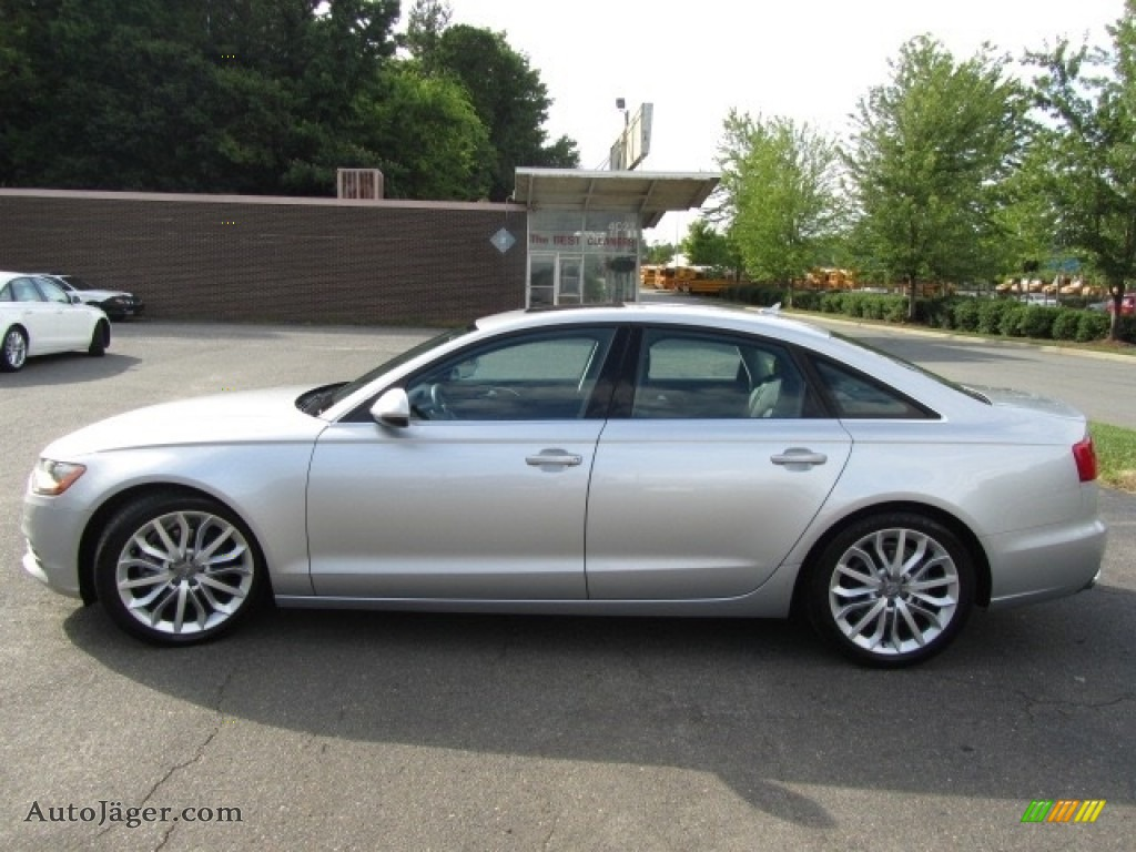 2013 A6 2.0T quattro Sedan - Ice Silver Metallic / Black photo #7