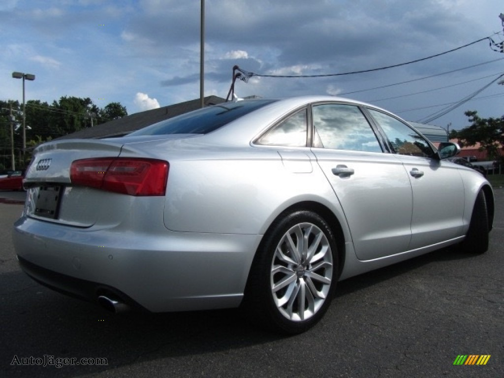 2013 A6 2.0T quattro Sedan - Ice Silver Metallic / Black photo #10