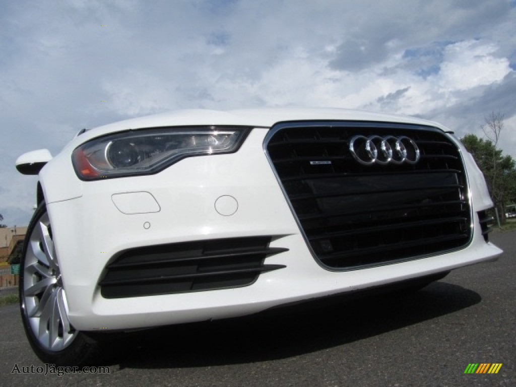 2013 A6 3.0T quattro Sedan - Ibis White / Velvet Beige photo #1
