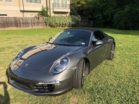 Meteor Grey Metallic 2012 Porsche 911 Carrera S Cabriolet